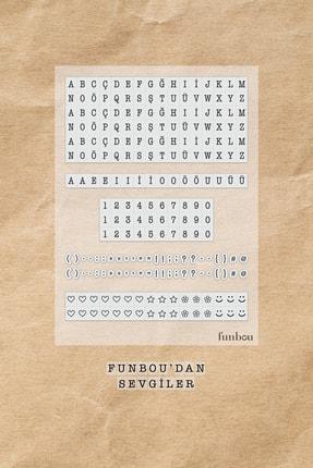 Funbou Şeffaf Harf-rakam Sticker Seti / 2 Sayfa
