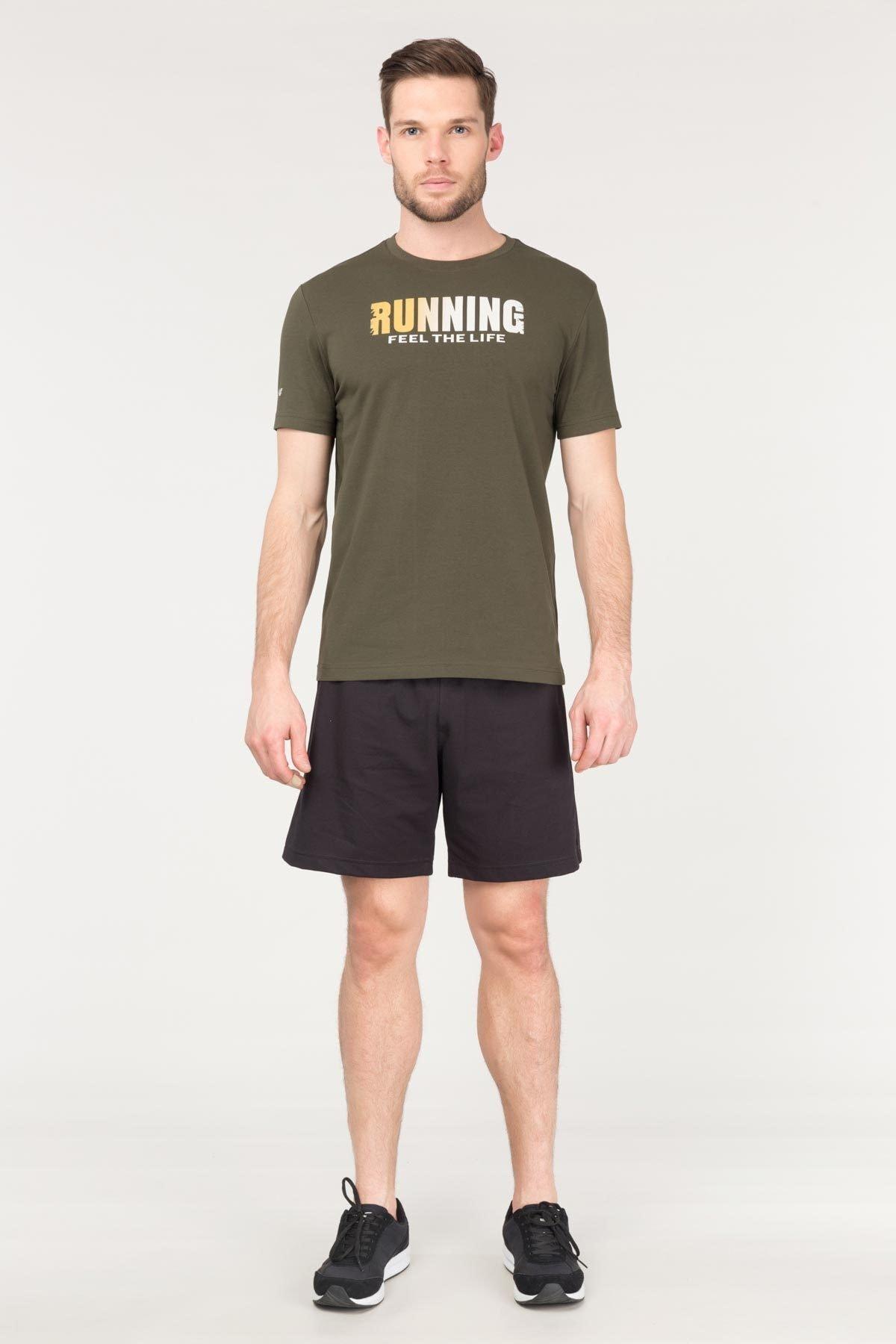 bilcee Yeşil Pamuklu Erkek T-Shirt FS-1681 1
