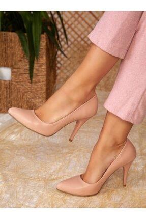 ayakkabıhavuzu Kadın Pudra Cilt Topuklu Ayakkabı