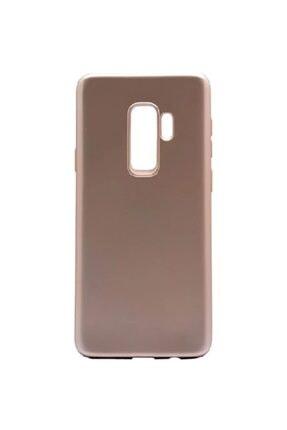 Sunix Samsung Galaxy S9 Ince Mat Esnek Gold Silikon Kılıf