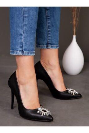 ayakkabıhavuzu Kadın Siyah Klasik Topuklu Ayakkabı