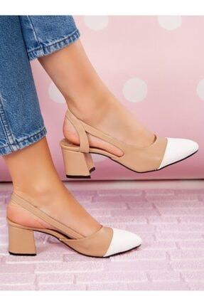 ayakkabıhavuzu Topuklu Ayakkabı - Nude Beyaz