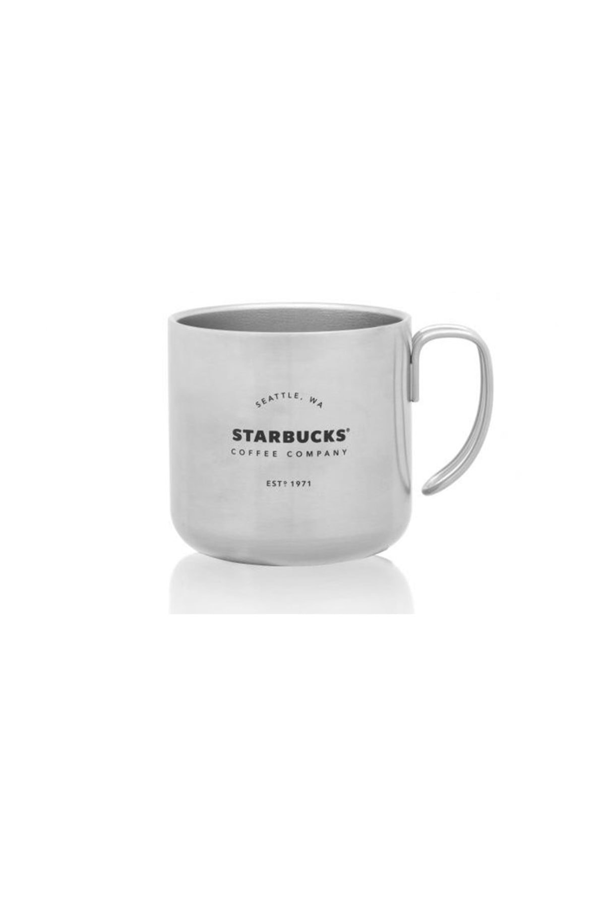 Starbucks Beyaz Metal Termos Bardak Kupa Yılbaşı Serisi 1