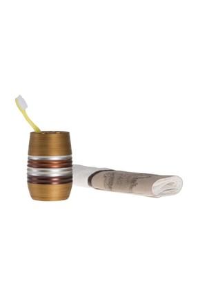 Bosphorus Metalik Kahve Poliresin Diş Fırçalık Jmbs002B