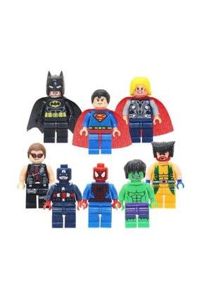 LEGO Uyumlu Batman Super Kahramanlar 8 Adet Hero Figür