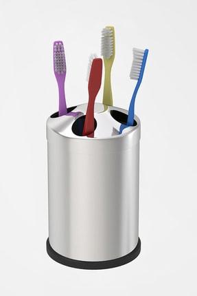 Alper Banyo Paslanmaz Tezgah Üstü Diş Fırçalık ( Metal )