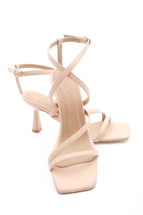 Marjin Kadın Bej Rani Topuklu Ayakkabı