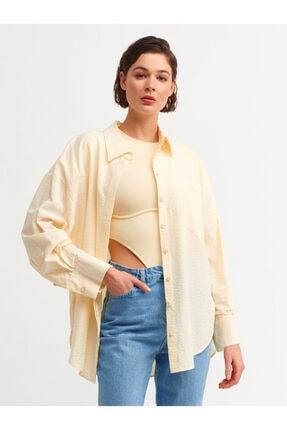 Dilvin Kadın Sarı Salaş Gömlek 5854