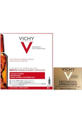 Vichy Peptıt-c Kırışıklık Karşıtı 10 Amp + Neovadıol Compensantıng Complex 15 ml