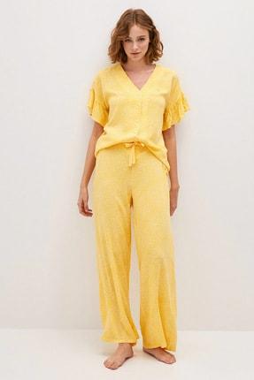 LC Waikiki Kadın Açık Sarı Baskılı LCW DREAM Pijama Takım