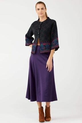 Sementa Truvakar Kol Düğmeli Kısa Kadın Ceket - Siyah