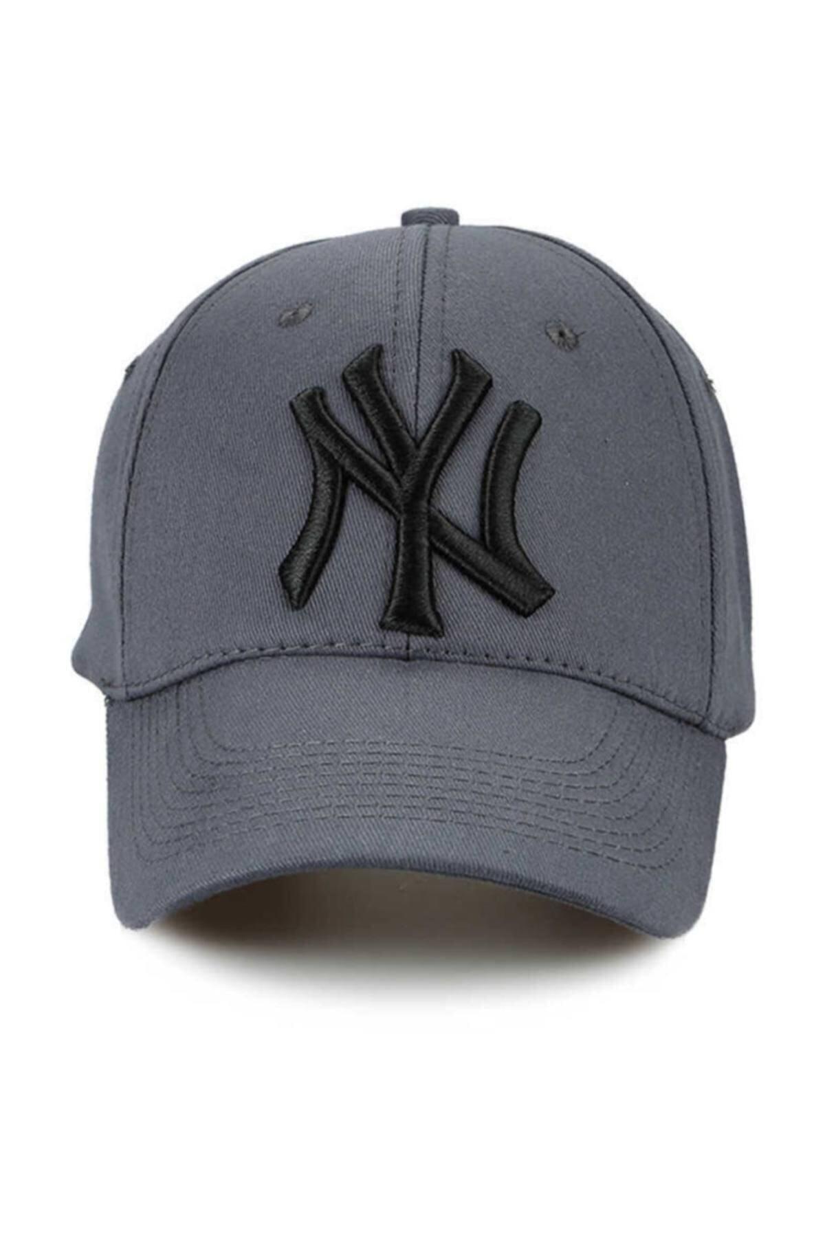 NuxFah Unisex Füme  New York Şapka Şapka 1