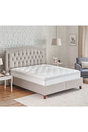 Yataş Bedding Tesla Sleep - Lorenz - Lisbon 3'lü Yatak Baza Başlık Set - Bej