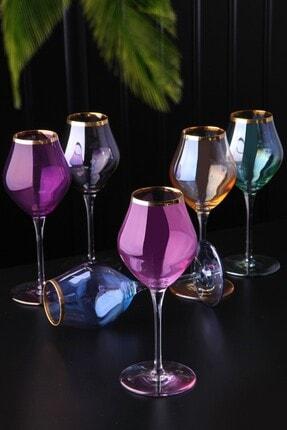 Olcay Home Lüx Lüsterli Ayaklı Kahveyanı Veya Meşrubat Bardağı 6 Renk