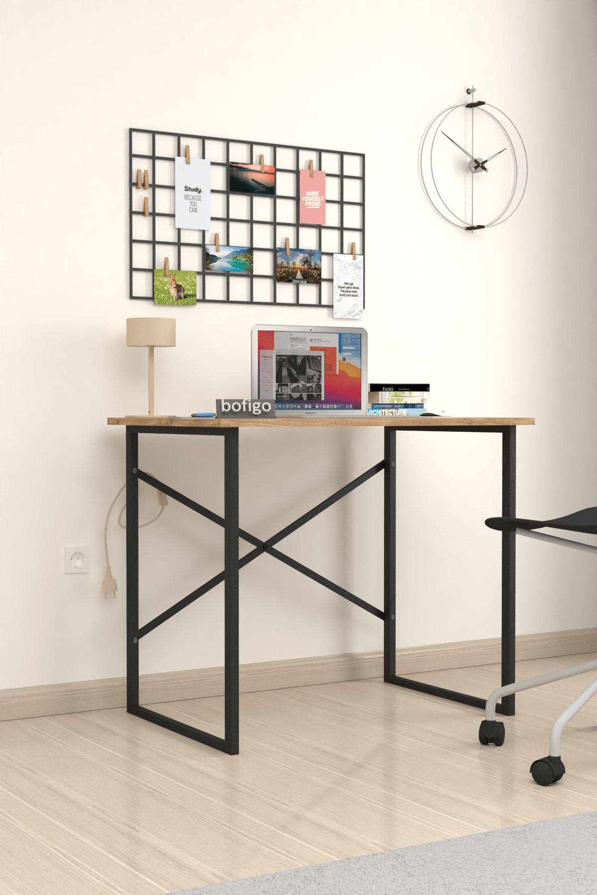 Bofigo Çam Çalışma Masası Laptop Bilgisayar Masası Ofis Ders Yemek Cocuk Masası 60x90 cm 2
