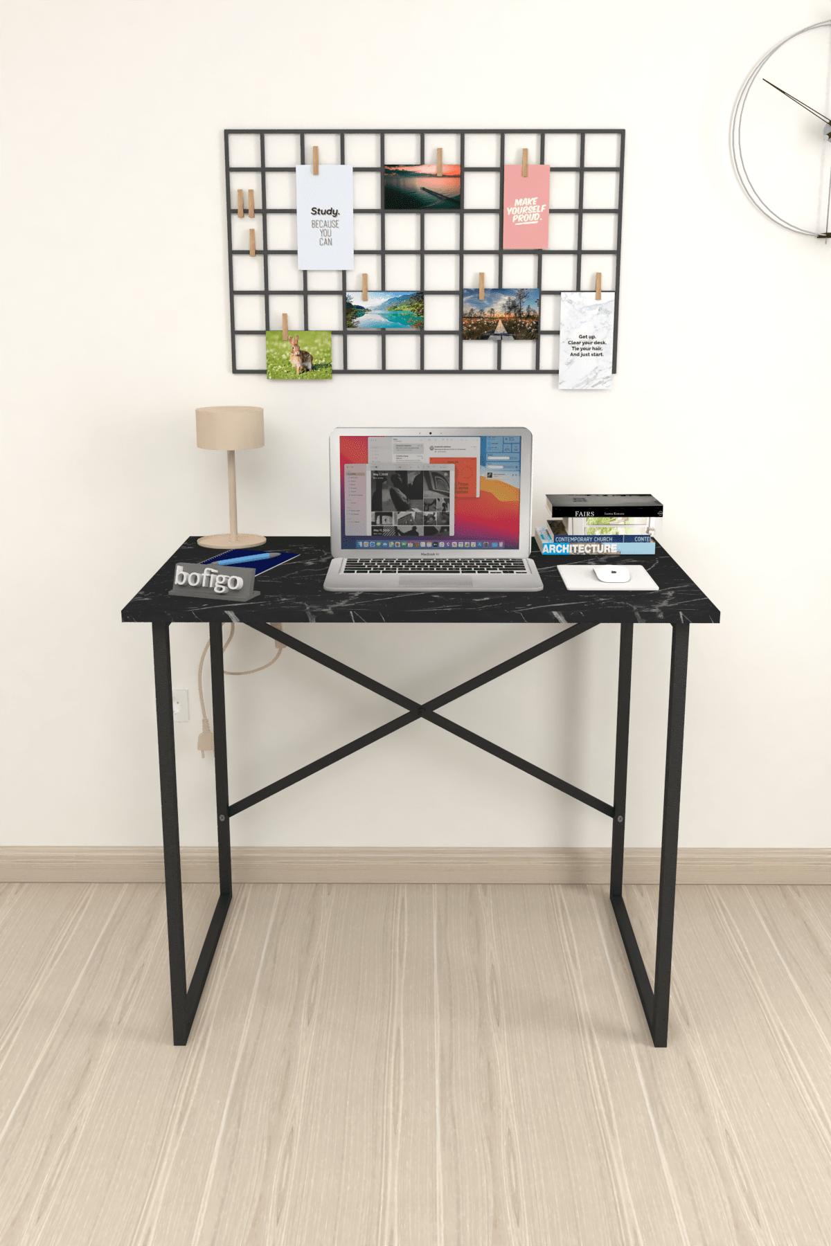Bofigo 60x90 cm Çalışma Masası Laptop Bilgisayar Masası Ofis Ders Yemek Cocuk Masası Bendir 2