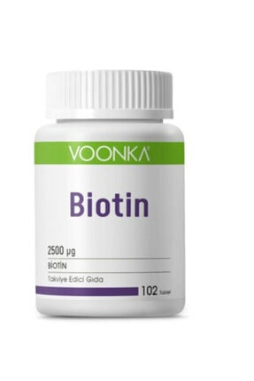 Voonka Biotin 2500 Mg 102 Tablet