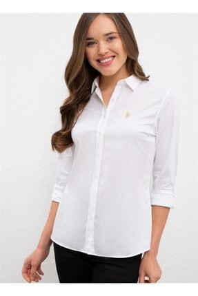 U.S. Polo Assn. Kadın Beyaz Polo Gömlek 1226906