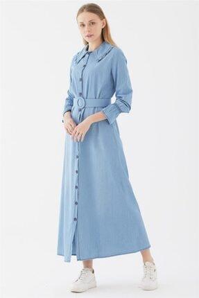 Nassah Kemerli Elbise-açık Mavi Ua-1s20002-15