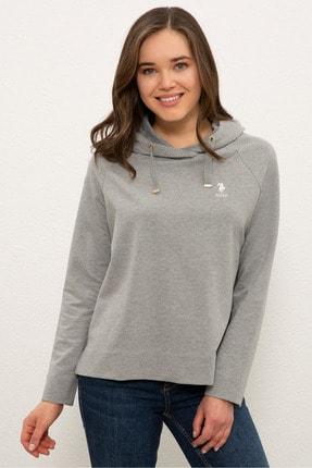 U.S. Polo Assn. Grı Melanj Kadın Sweatshirt G082SZ082.000.1210425