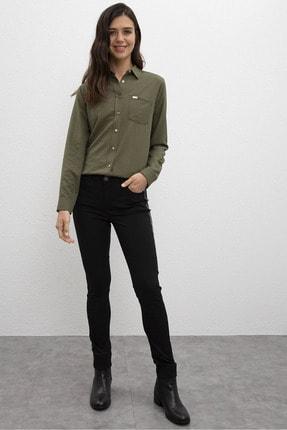 U.S. Polo Assn. Siyah Kadın Dokuma Spor Pantolon