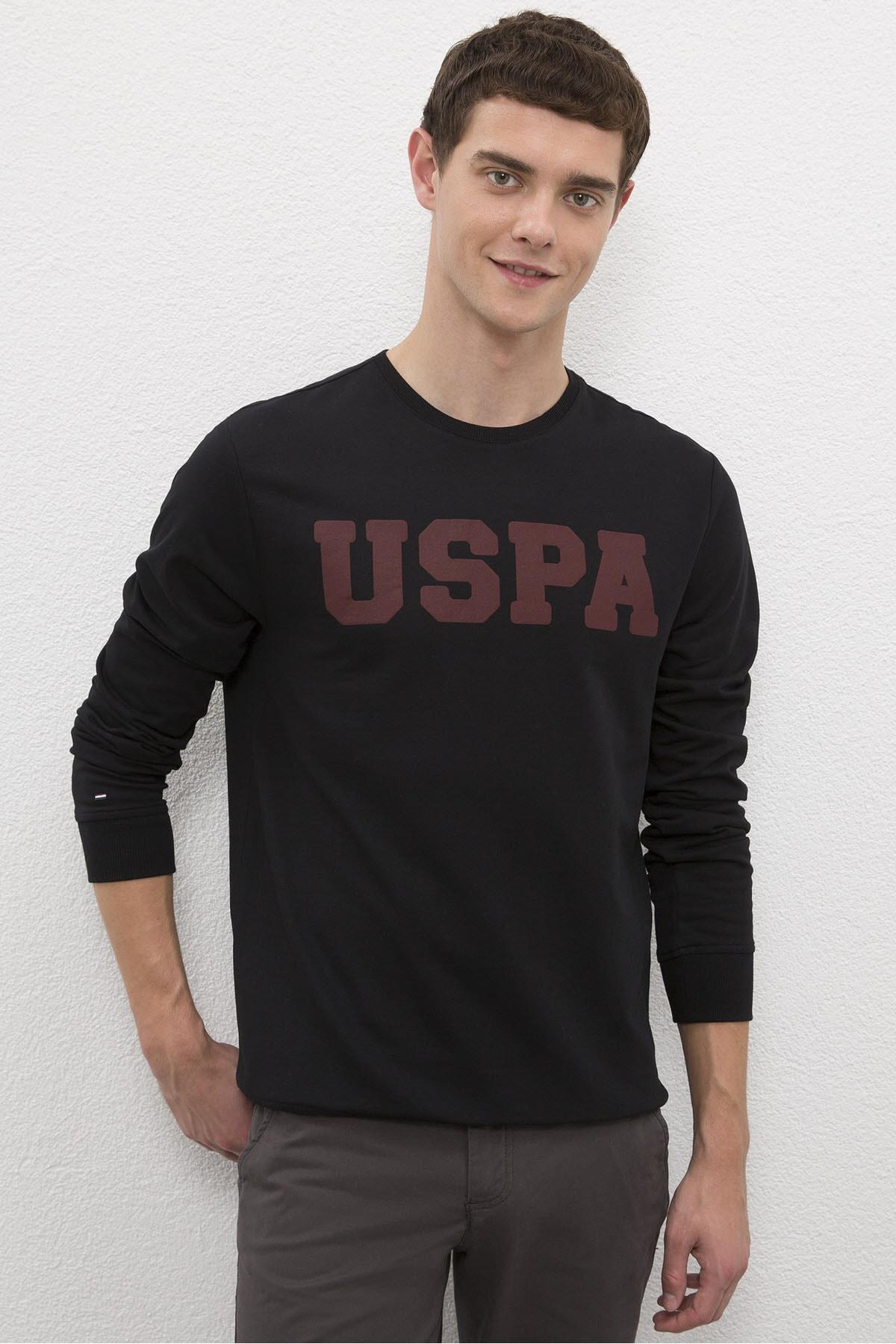 U.S. Polo Assn. Siyah Erkek Sweatshirt 1