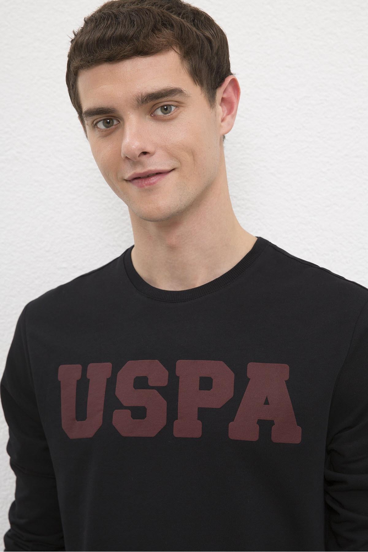 U.S. Polo Assn. Siyah Erkek Sweatshirt 2
