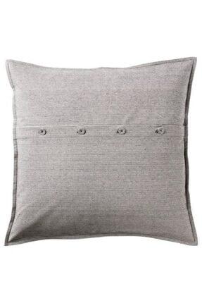 IKEA Minder Yastık Kılıfı Çizgili Gri-beyaz 50x50 Cm %100 Pamuk
