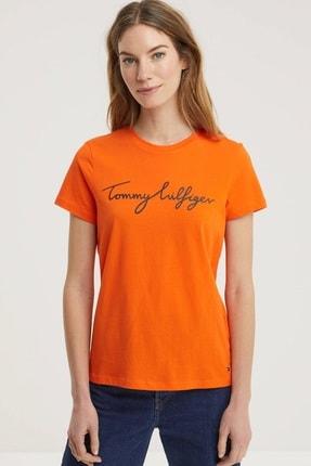 Tommy Hilfiger Crew Neck Graphic Signature Logo T-shirt Ww0ww28682