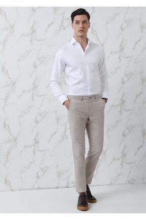 Ramsey Erkek Beyaz Düz Dokuma Uzun Kollu Gömlek
