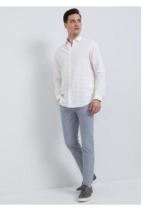 Ramsey Erkek Ekru Dokuma Uzun Kollu Gömlek