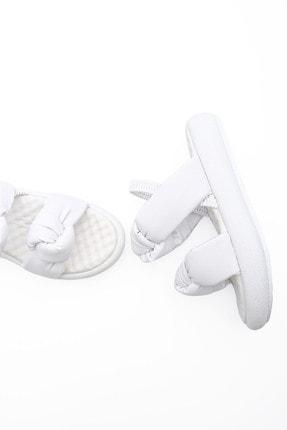 Marjin Kadın Beyaz Dolgu Topuk Sandalet Horev
