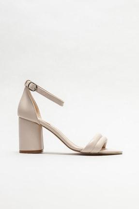 Elle Shoes Bej Kadın Topuklu Sandalet