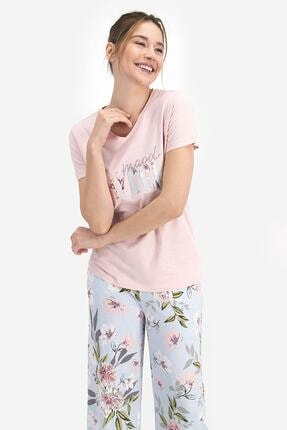 Arnetta Kadın Pembe Kısa Kollu Pijama Takımı