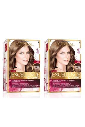 L'Oreal Paris Excellence Creme Saç Boyası 6.1 Koyu Kumral Küllü 2'li Set