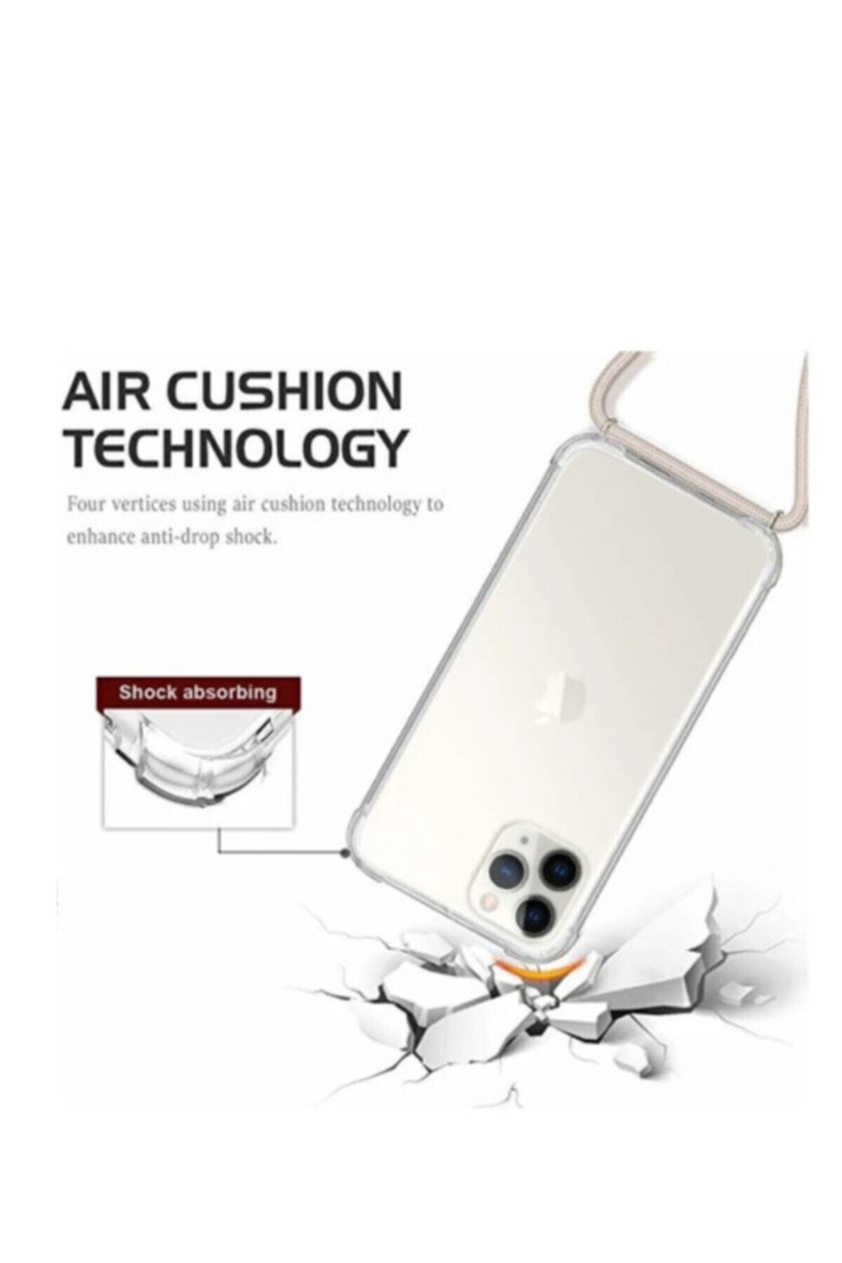 Unity Iphone 11 Şeffaf Boyun Askılı Silikon Kılıf 2