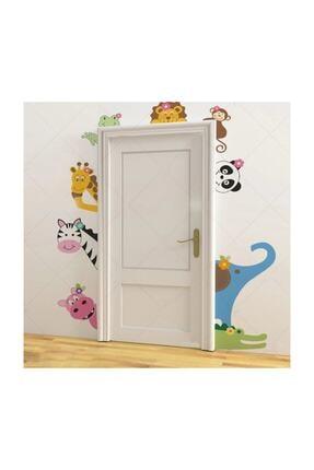 KT Decor Sevimli Kapı Arkadaşları Çocuk Odası Duvar Sticker