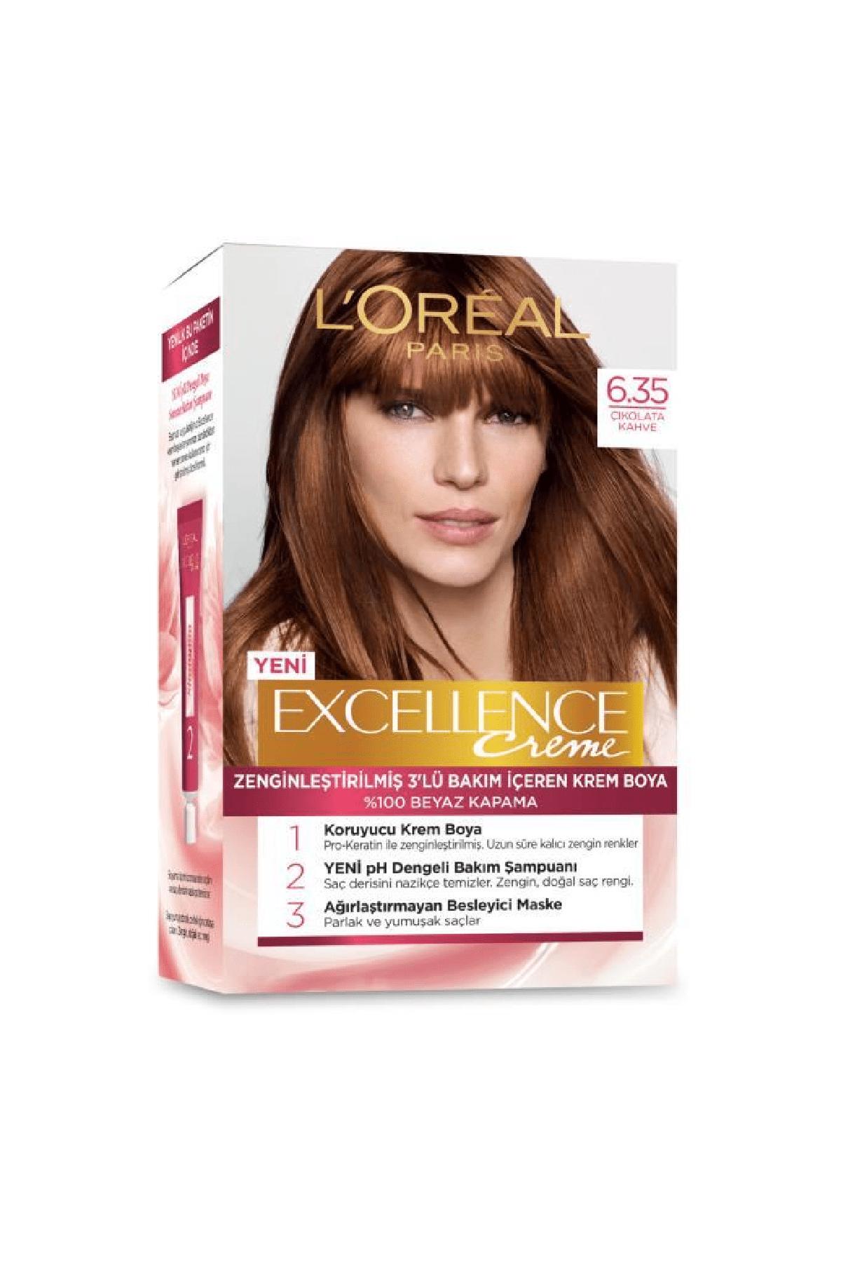 L'Oreal Paris Excellence Creme Saç Boyası 6.35 Çikolata Kahve