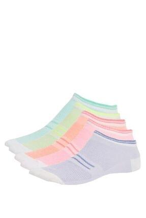 DeFacto Kadın Pembe 5'li Patik Çorap