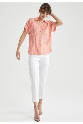 DeFacto Kadın Beyaz Valentina Cigarette Pantolon