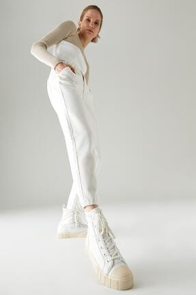 DeFacto Paper Bag Yıkamalı Yüksek Bel Dokuma Pantolon