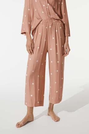 Oysho Kadın  Pembe Puantiye Desenli Culotte Pantolon
