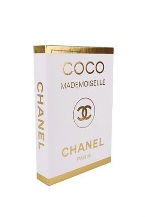 Arthome Gold Varaklı Coco Mademoıselle Chanel Dekoratif Kutu 27x19x4