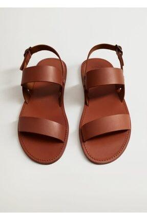 MANGO Man Deri Gladyatör Sandalet
