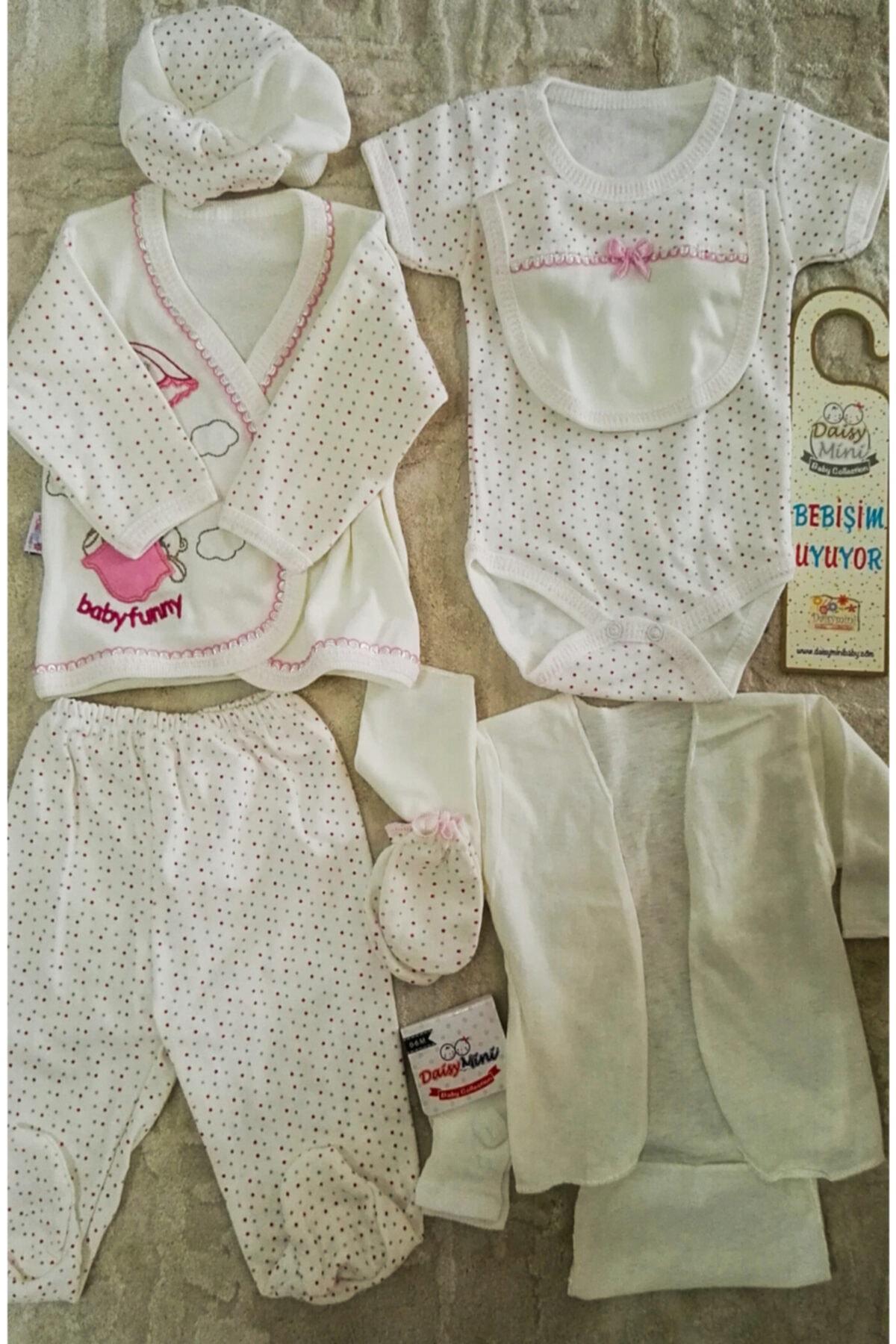 Daisymini Kız Bebek Kutulu Hastane Çıkış Zıbın Yenidoğan Seti Hçzs 1