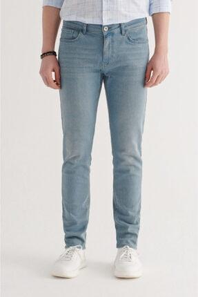 Avva Erkek Açık Mavi Slim Fit Jean Pantolon A11y3557