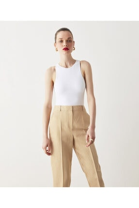İpekyol Çizgili Keten Pantolon