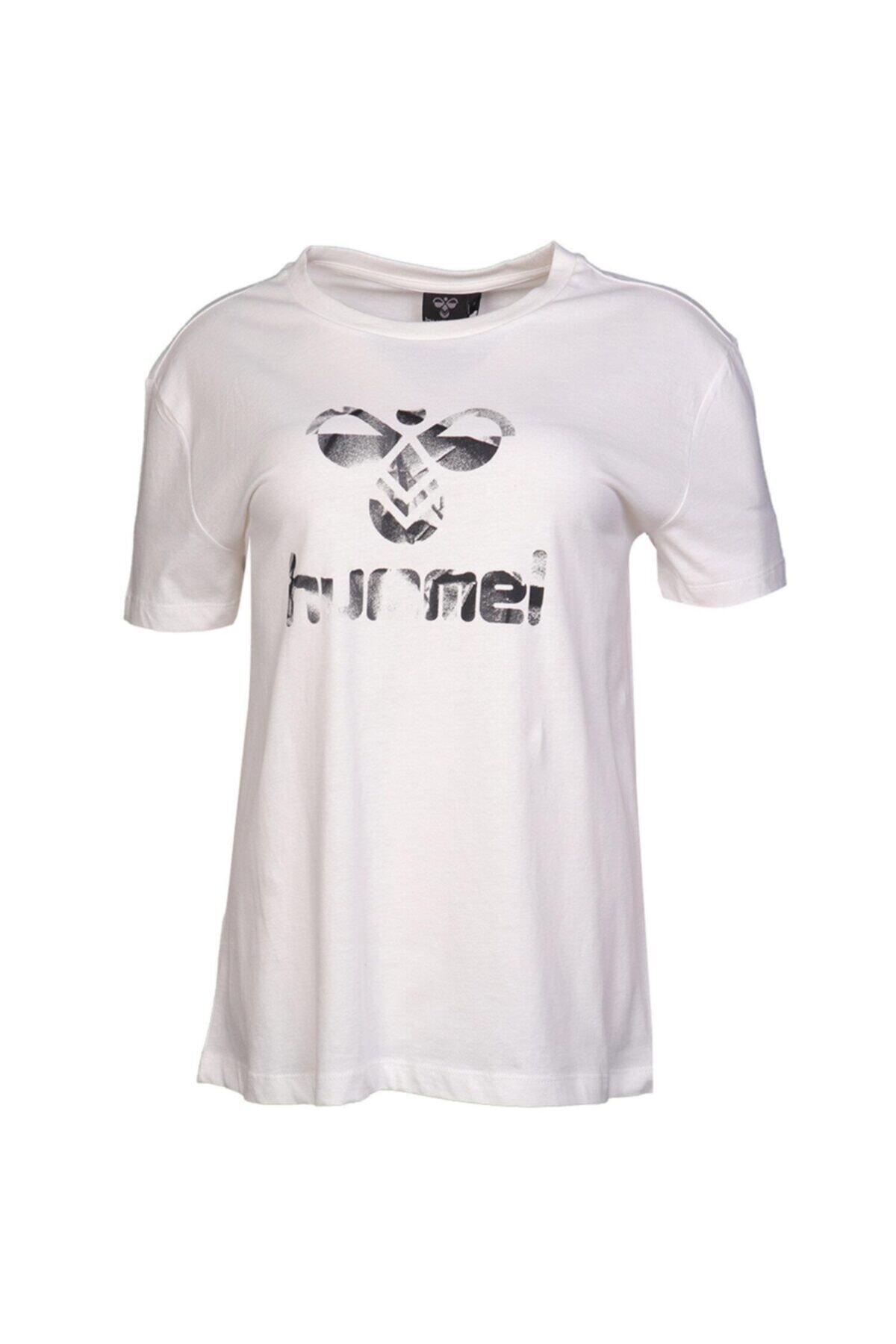 HUMMEL Kadın Beyaz Tişört 911033-9003 2