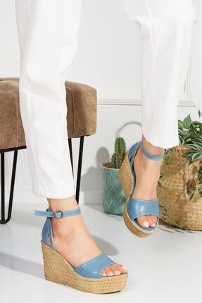 derithy Kadın Vinle-dolgu Topuklu Ayakkabı -kot Mavi-lzt0590