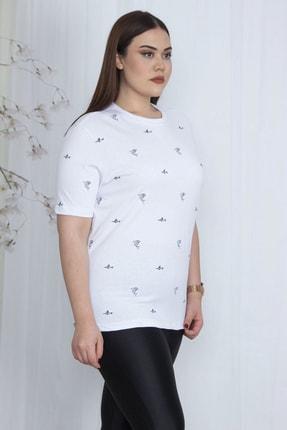 Şans Kadın Beyaz Nakışlı Bluz 65N23541